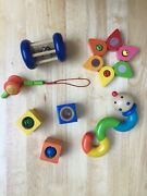 Lot Of 7 Wooden Baby Toys Haba Vintage-excellent Condition