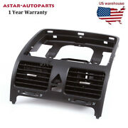 Black Front Dash Central Air Outlet Vent Fit For Vw Jetta Golf / Gti Mk5 Rabbit