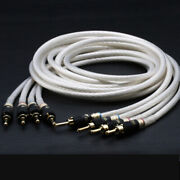 2pairs 5n Single Crystal Hifi 4 Speaker Cables Silver Plated Loudspeaker Cable