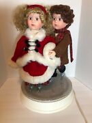 Vintage Santaand039s Best Animated Collectables Skating Couple Christmas Works