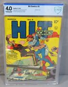 Hit Comics 9 Wwii War Cover Cbcs 4.0 Vg Quality 1941 Golden Age Cgc