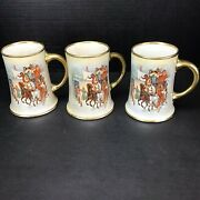 Rare Antique W.h. Tatler Decorating Co. Tankard/beer Steins Lot Of 5