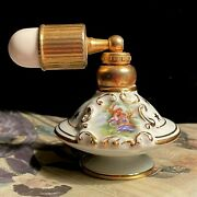 Antique Limoges French Porcelain Perfume Atomizer W/courting Couple Marked