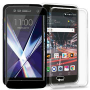 High Definition Screen Protector Anti-slip Back Tpu Case For Lg X Charge M322 Us