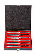 Table Knives In High-end Damascus Steel - Med410c
