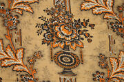 Antique French Quilt 1830's Pink Bird Fruit Floral Toile D' Alsace 1840 Backing