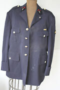 Vintage French Firefighter Coat Work Wear Sapeurs Pompiers Jacket W/ Ribbon Band