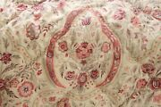Antique French Quilt Stunning Large Scale Indienne Large Heavy 79x88