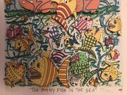 James Rizzi Original 3d Too Many Fish In The Sea 1989