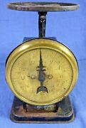 Antique Vintage American Cutlery Company Kitchen Scale - Brass And Wrought Iron