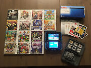 Nintendo 3ds Xl Console System Blue And 20 Games