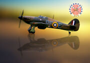 Hawker Hurricane Rf-e 303 Squadron Canvas Prints Various Sizes Free Delivery