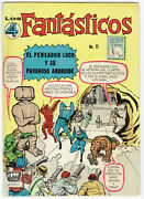 Fantastic Four 15 1st Mad Thinker Jack Kirby Mexican La Prensa Mexico In Spanish
