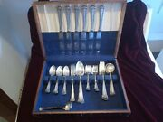 Early Wallace Rwands Sterling Silver Flatware Old Set 43 Pcs 1750 Grams
