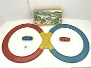 Rare 1940and039s Distler Wind-up Car Set. Us Zone Germany Original Box Works