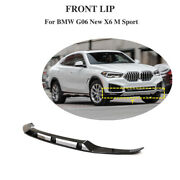 Fit For Bmw X6 Sport 2020up Front Bumper Lip Spoiler Splitters Chin Glossy Black