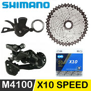 Shimano Deore M4100 1x10 Speed Mtb Groupset Shifter Lever Chain Rear Derailleur