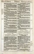 1611 King James Bible Leaf - Ps 91 His Angels Charge Over Thee - And039sheand039 Bible. 1