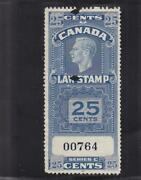 Canada 25c Law Stamp Van Damme Fsc23 Used 36801