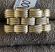 Ring 14kty Solid Gold R, Coin Style From Italy