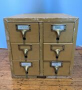 Vintage Gaylord Bros Brothers 6 Drawer Library Card Catalog Gorgeous