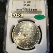 1881-s Morgan Silver Dollar Ngc And Cac Certified Ms68+ Exceptional Coin