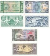 Samoa - Set 3 Banknotes 1 2 10 Tala 1967 2020 Limited Official Repr Serie S Unc