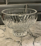 Marquis By Waterford Crystal 6 Inch Sheridan Footed Bowl With Vertical Patterns
