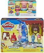 Play-doh Kitchen Creations Drizzy Ice Cream Playset Featuring Drizzle Compound