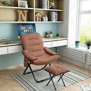 Bed Sofa Folding Arm Chair Convertible Sleeper Recliner Lounge With Footstool