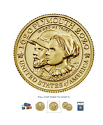 Mayflower 400th Anniversary Gold Reverse Proof Coin In Hand