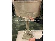 Vintage Farmhouse Style Aged Metal Pontoise Table Lamp Screen Shade Uttermost