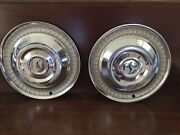Studebaker Hubcaps Pair Good Condition 1959-1964