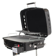 Rv Mounted Bbq Gas Side Mount Portable Propane Grill In Black