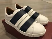 550 Bally Willet White And Blue Leather Sneakers Size Us 10 Made In Italy
