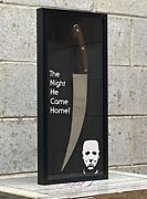Halloween Michael Myers Knife Movie Poster Knife Display Case Mask Horror Prop