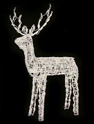 48 Animated Crystal 3-d Standing Buck Deer Lighted Outdoor Christmas Decoration
