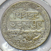 India Princely States 1928 Vs 1985 1/8 Rupee Mewar 295423 Combine Shipping