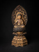 Special Antique Japanese Amida Buddha Statue From Japan Middle 17th Century