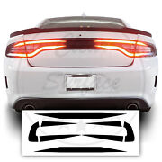 Tail Light Race Track Bat Vinyl Overlay Decal Cover Fits Dodge Charger 2015-2020