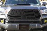 Steel Grille Wavy American Flag For 2018-2020 Toyota Tacoma Pro Style Tss Grill