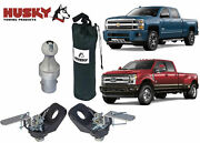 Husky Towing 33100 Gooseneck Trailer Hitch Ball And Tie Down Chain Kit New Usa