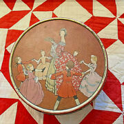 Vintage 1920's Colonial Scene Nbc National Biscuit Co. Uneeda Fruitcake Tin Can