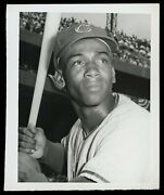 Ernie Banks 1959 Chicago Cubs Type 1 Original Photo Don Wingfield Crystal Clear