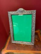 Good Condition Vintage Solid Silver Picture Frame 19th-century