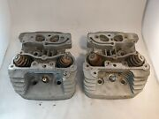 Harley Davidson Oem Twin Cam Cylinder Heads Front And Rear 16724-99 16722-99