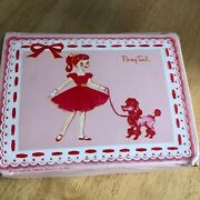 Thermos Vintage 1960 Pink Vinyl Pony Tail Lunch Box Great Condition And Lovely