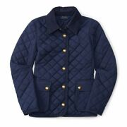 New Polo Girls Plain Weave Quilted Jacket Size 2t