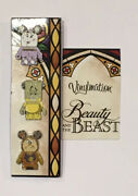 Disney Beauty And The Beast Vinylmation Pins - Mrs Potts, Lumiere And Cogsworth