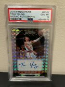 2018 Trae Young Prizm Mosaic Auto Moty Silver Refractor Psa 10 Hawks Rookie Rc